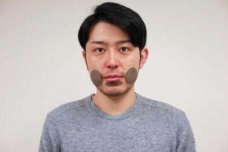 髭の形をイメージして剃る部分を決める