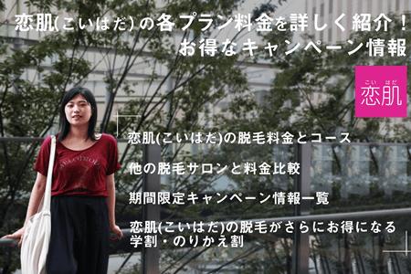 恋肌(こいはだ)の各プラン料金を詳しく紹介!お得なキャンぺーン情報